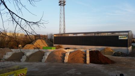 Schüttboxen Baustoffe Schotter Rindenmulch