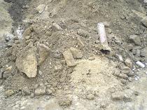 kontaminierter Erdaushub  Boden-Schuttgemisch